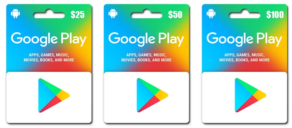 Google Play gift cards 100$