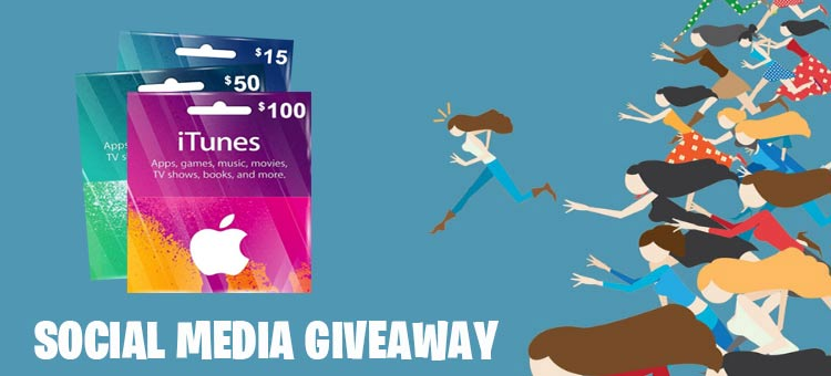 Social Media Giveaway for free iTunes gift codes