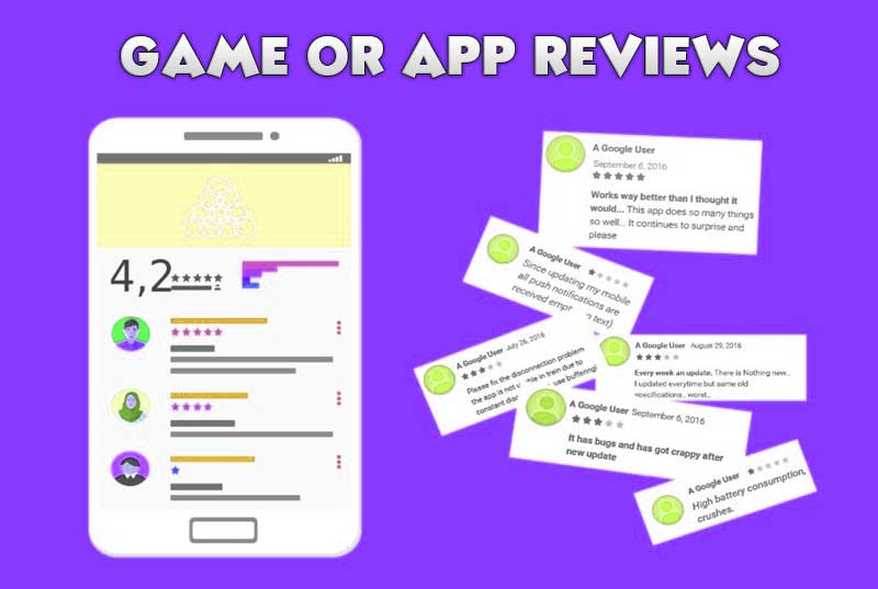 Get mobile app reviews