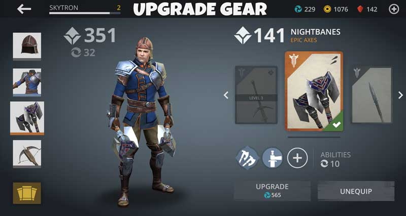 Shadow Fight 3 gears upgrade