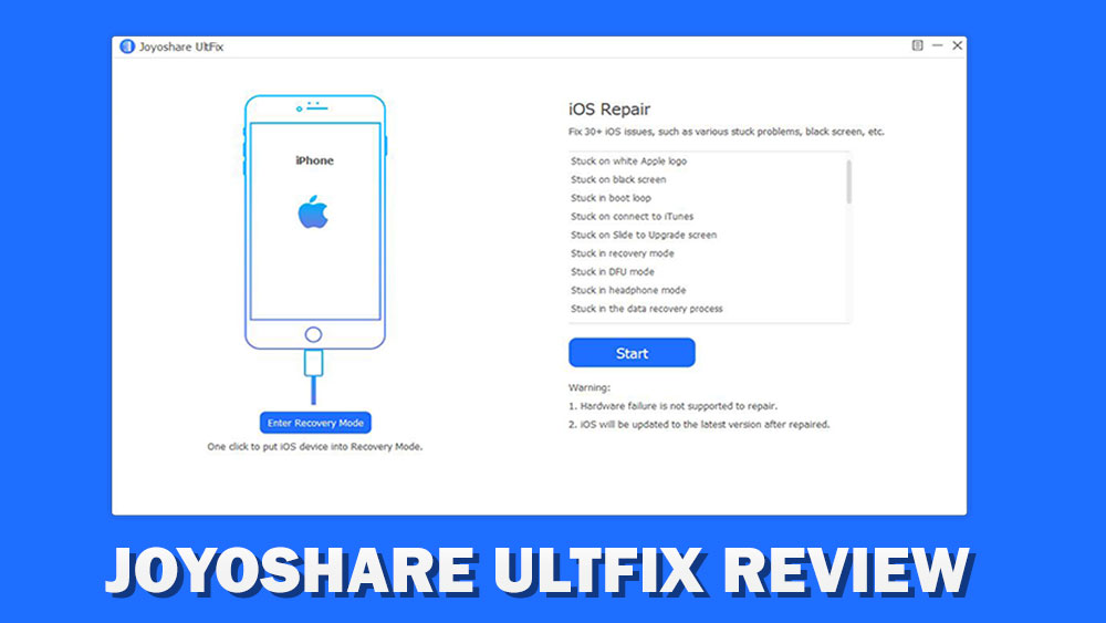 Joyoshare UltFix Software review